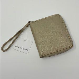 Brand New Liz Claiborne Gold Wristlet Wallet